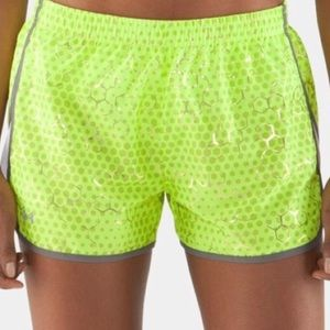 Under Armour - Neon Yellow Honeycomb Shorts - M